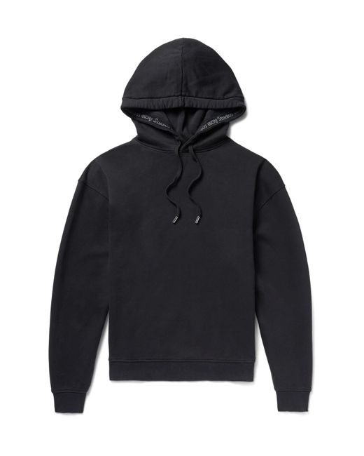 Acne | Black Yala Fleece-back Cotton-jersey Hoodie for Men | Lyst