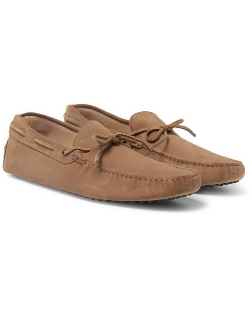 Tod's   Multicolor Gommino Suede Driving Shoes for Men   Lyst