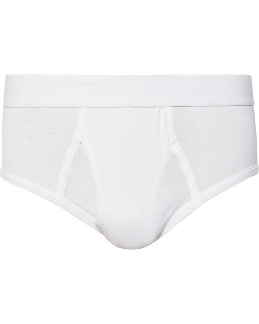 Handvaerk - White Pima Cotton-jersey Briefs for Men - Lyst