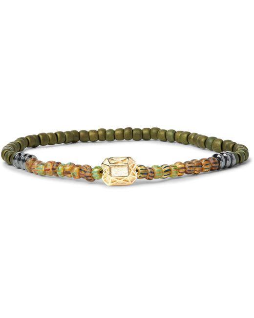Luis Morais | Green Hematite, Glass Bead And Gold Bracelet for Men | Lyst
