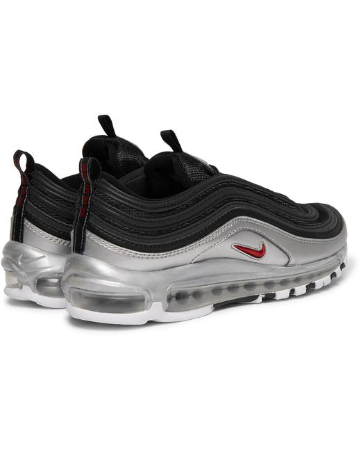 884c4498c2 ... Nike - Black Air Max 97 Qs Faux Leather And Mesh Sneakers for Men - Lyst  ...