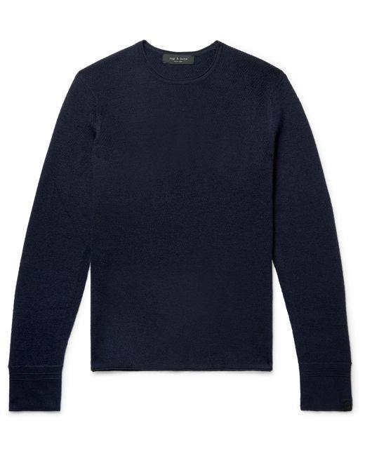 Rag & Bone - Blue Gregory Slim-fit Merino Wool-blend Sweater for Men - Lyst