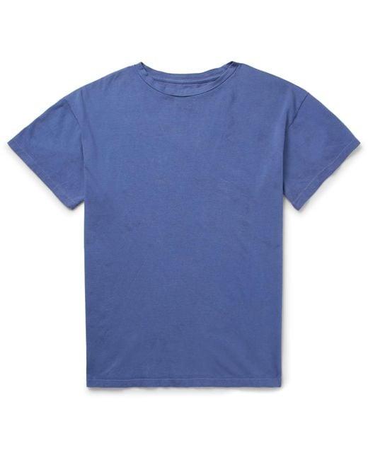 The Elder Statesman - Blue Cotton-jersey T-shirt for Men - Lyst