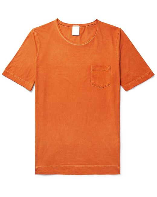 Massimo Alba | Orange Panarea Garment-dyed Cotton-jersey T-shirt for Men | Lyst