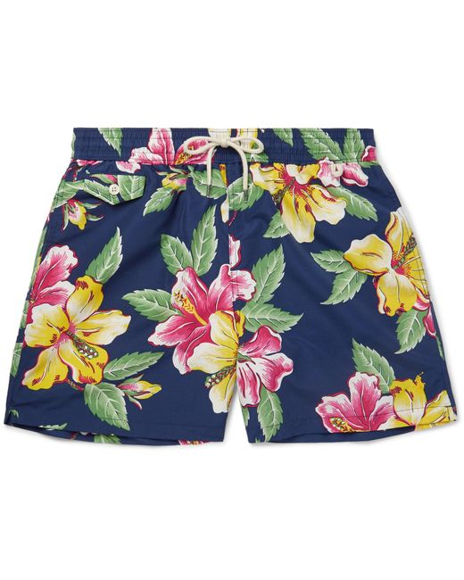 Polo Ralph Lauren - Blue Mid-length Printed Shell Swim Shorts for Men - Lyst
