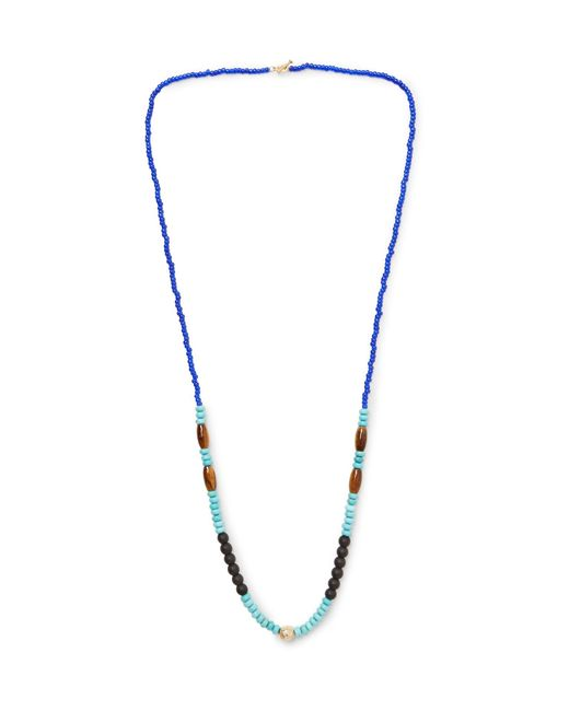 Luis Morais - Metallic Bead, Gold-tone And Multi-stone Necklace One Size for Men - Lyst