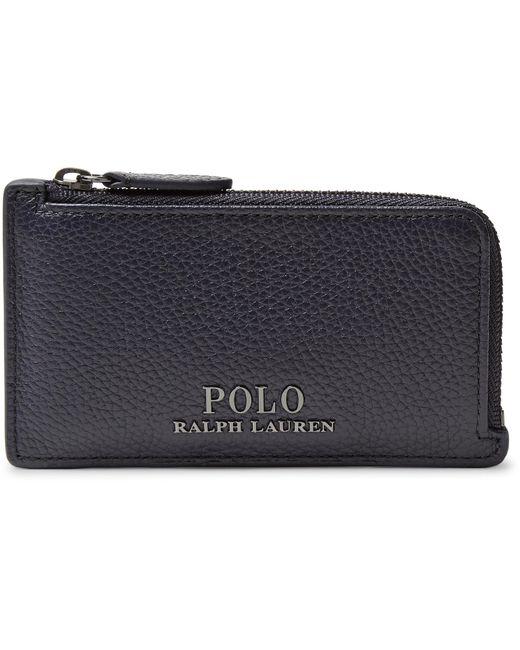 Polo Ralph Lauren - Blue Full-grain Leather Zip-around Cardholder for Men - Lyst