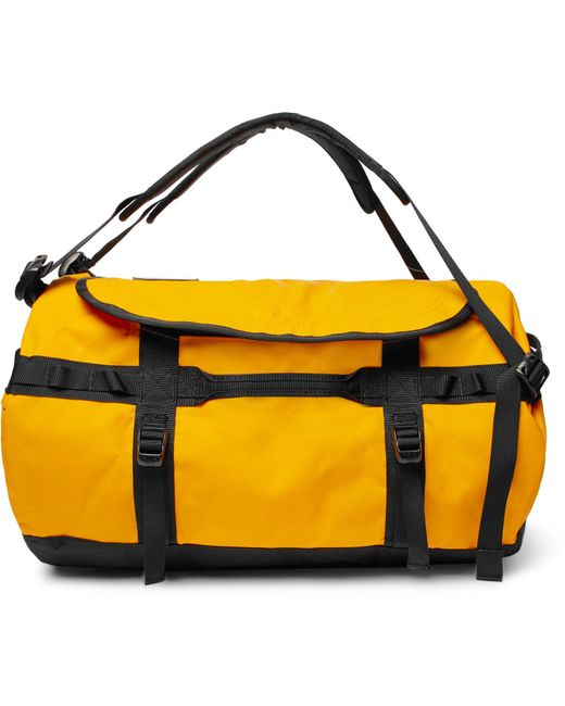 The North Face - Yellow Base Camp Medium Coated-canvas Duffle Bag for Men  ... 090363cab4bc5