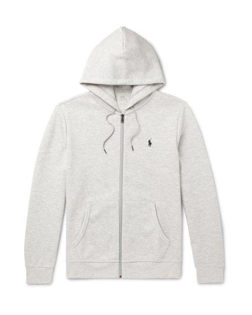 Polo Ralph Lauren - Gray Mélange Jersey Zip-up Hoodie for Men - Lyst