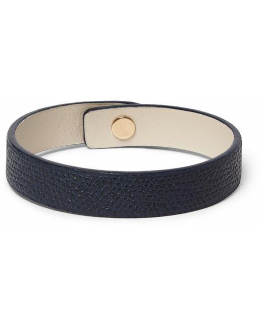 Valextra | Blue Pebble-grain Leather Bracelet for Men | Lyst