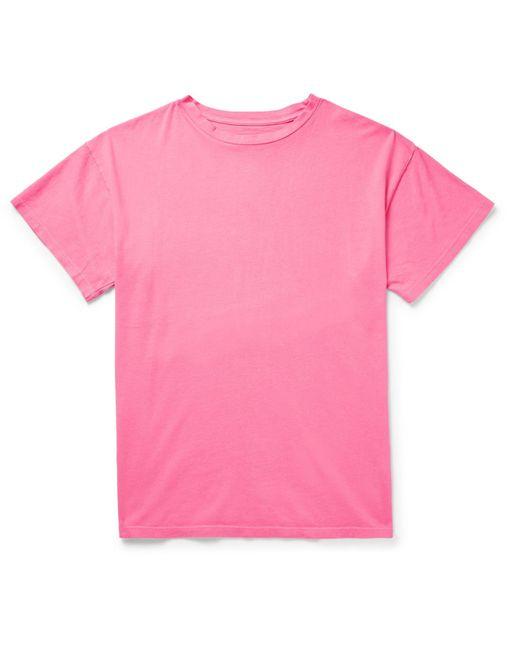 The Elder Statesman - Pink Cotton-jersey T-shirt for Men - Lyst