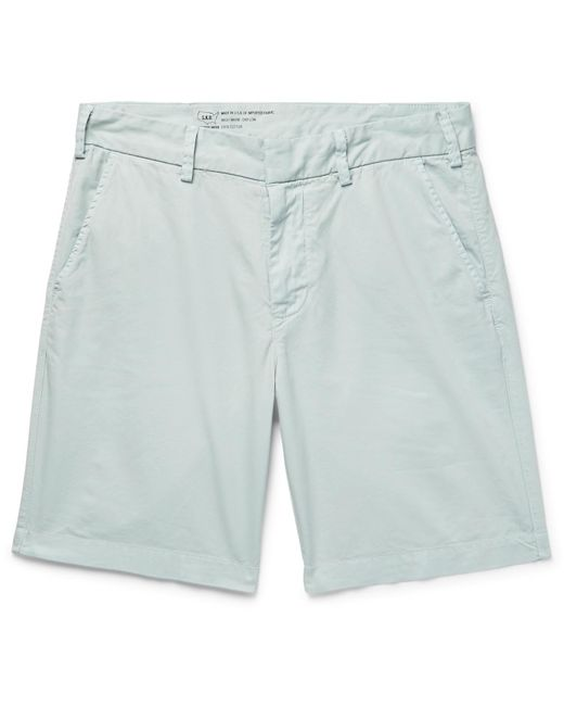 Save Khaki United - Blue Slim-fit Cotton-twill Shorts for Men - Lyst