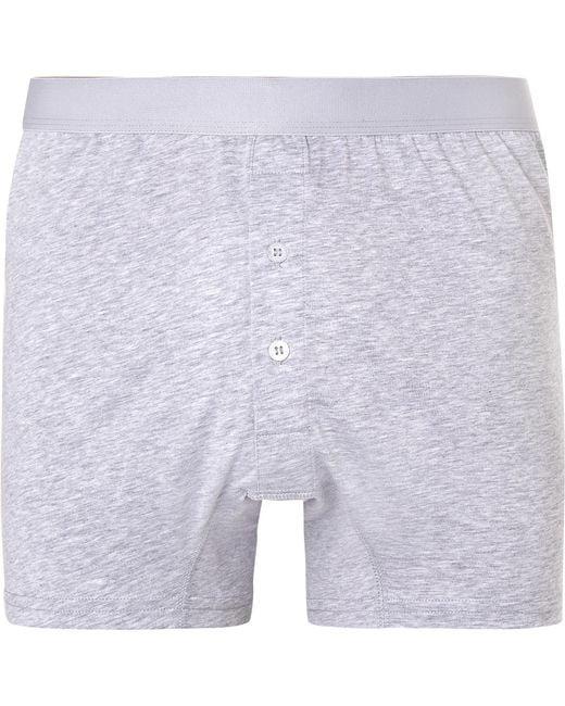 Handvaerk   Gray Pima Cotton-jersey Boxer Briefs for Men   Lyst