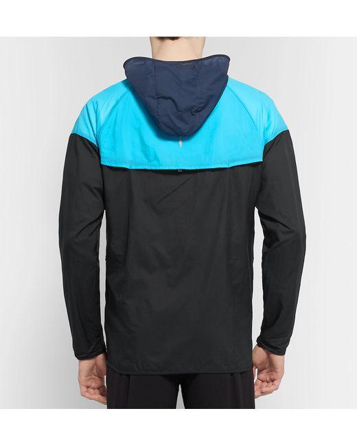 82f1ca16c ... Nike - Black Windrunner Colour-block Nylon-ripstop Hooded Jacket for  Men - Lyst ...