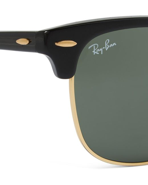 6d73d03dea3 ... Ray-Ban - Black Clubmaster Square-frame Acetate And Gold-tone Sunglasses  for ...