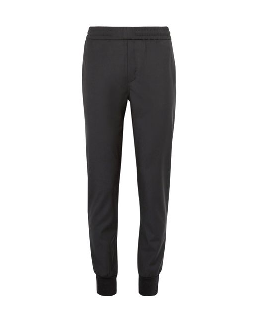 PS by Paul Smith | Black Slim-fit Tapered Wool Drawstring Trousers for Men | Lyst
