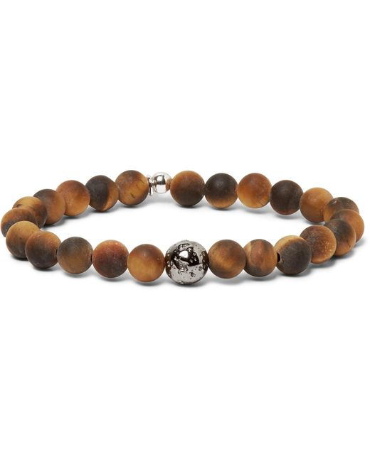 Tateossian - Brown Men's Tiger Eye & Asteroid Bracelet for Men - Lyst