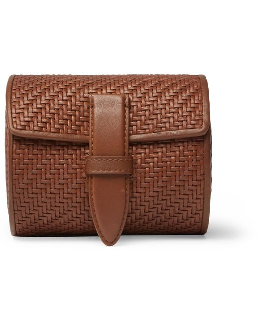 2a63dd7e3c87 Ermenegildo Zegna - Brown Pelletessuta Leather Watch Roll for Men - Lyst ...