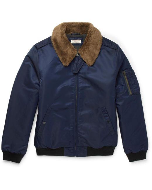 J.Crew | - Slim-fit Nylon-twill Bomber Jacket - Blue for Men | Lyst