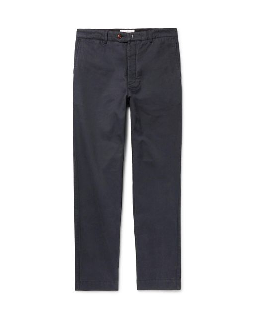 Officine Generale - Blue New Fisherman Cotton-twill Chinos for Men - Lyst