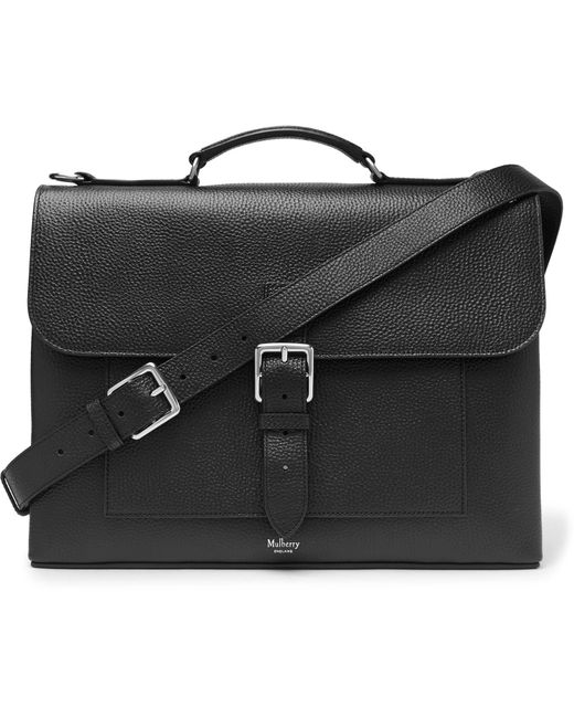 Mulberry - Black Chiltern Pebble-grain Leather Briefcase for Men - Lyst