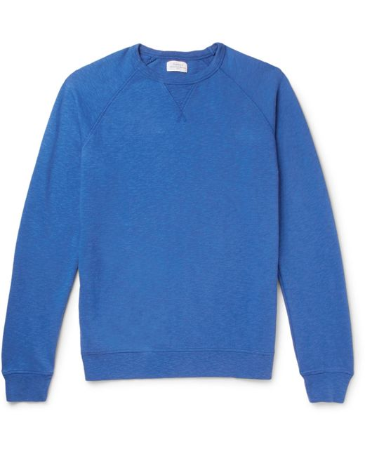 Hartford - Blue Mélange Loopback Cotton-jersey Sweatshirt for Men - Lyst