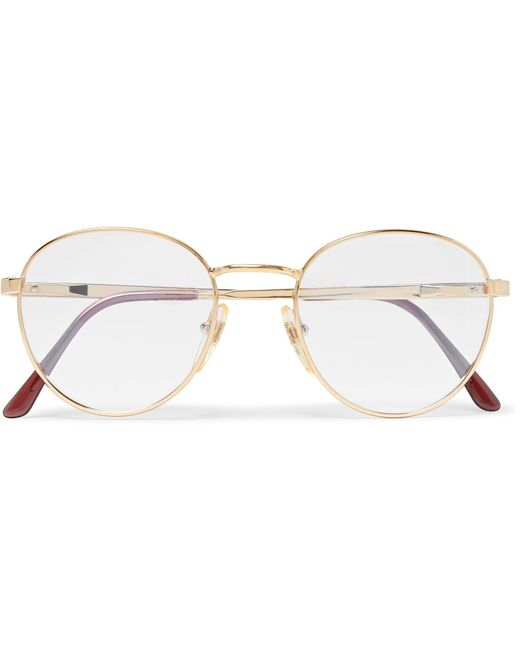 Cutler & Gross | Metallic Round-frame Gold-tone Optical Glasses for Men | Lyst