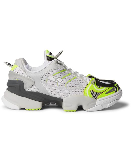 Vetements - White + Reebok Spike Runner 400 Rubber-trimmed Mesh Sneakers  for Men - 4fe8e315c
