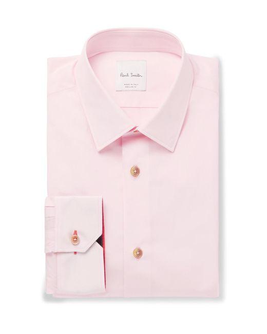 Paul Smith | Pink Soho Slim-fit Cotton-poplin Shirt for Men | Lyst