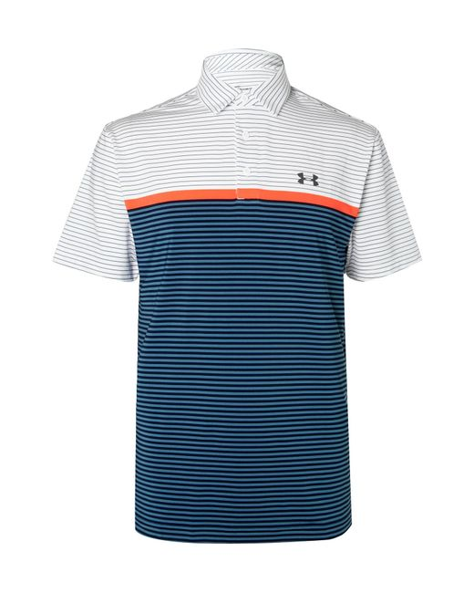 Under Armour - White Playoff Striped Heatgear Golf Polo Shirt for Men - Lyst