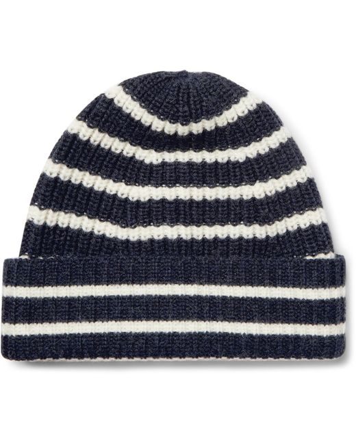 The Workers Club | Blue Striped Merino Wool Beanie for Men | Lyst