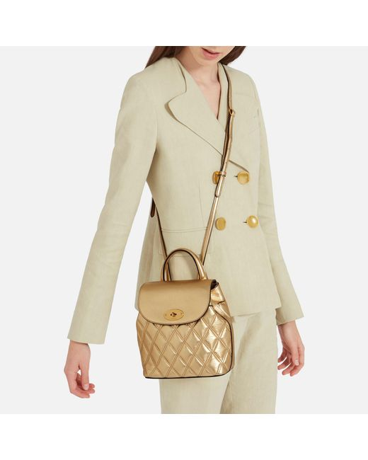 e580d3ca2f1a ... where can i buy mulberry metallic mini bayswater backpack lyst ad6a2  99c9e