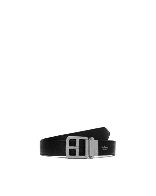 Mulberry - 30mm Reversible Boho Buckle In Black Small Classic Grain for Men - Lyst