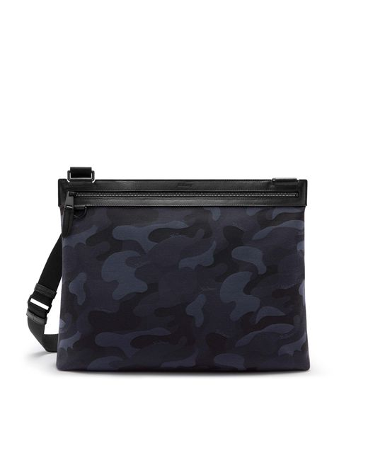 Mulberry - Soft Zipped Messenger In Midnight And Black Camo Jacquard for Men - Lyst
