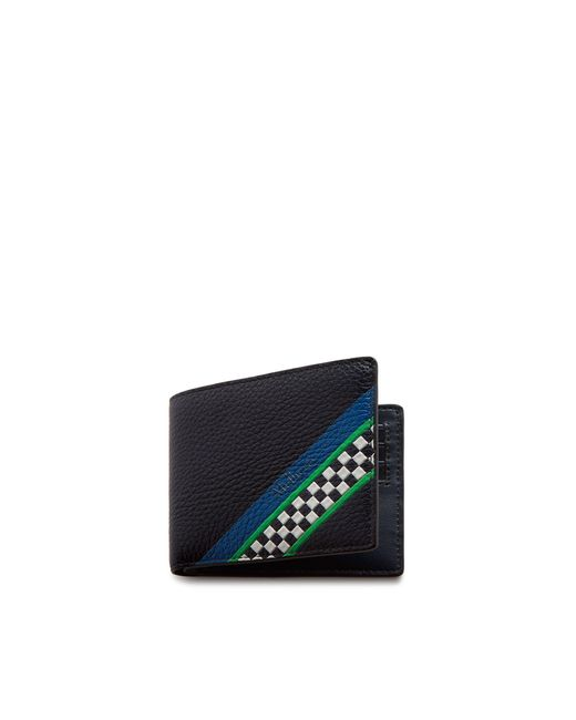 Mulberry - Blue 8 Card Wallet In Midnight Racing Stripes for Men - Lyst