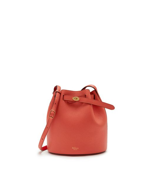 Mulberry - Pink Abbey In Coral Rose Small Classic Grain - Lyst