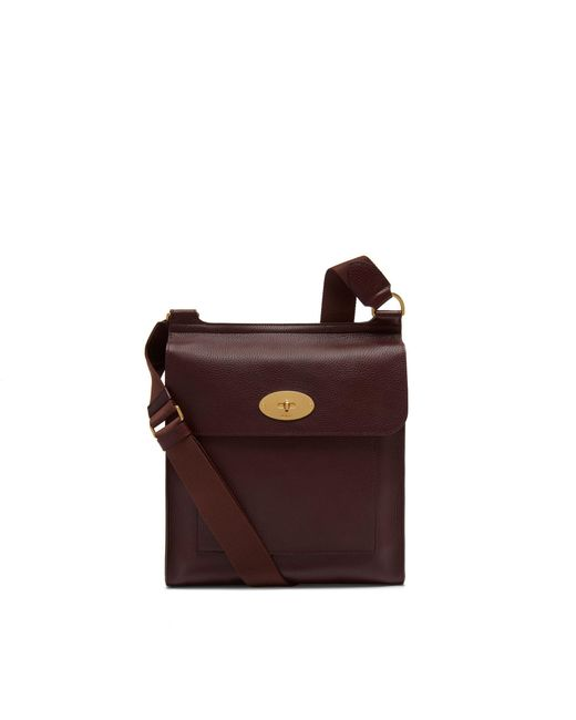 Mulberry - Multicolor New Antony Messenger In Oxblood Natural Grain Leather for Men - Lyst