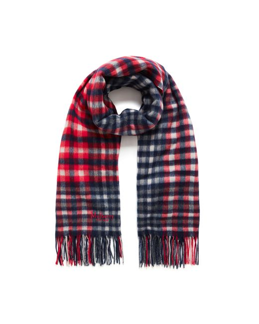 Mulberry   Red Large Check Lambswool Scarf   Lyst