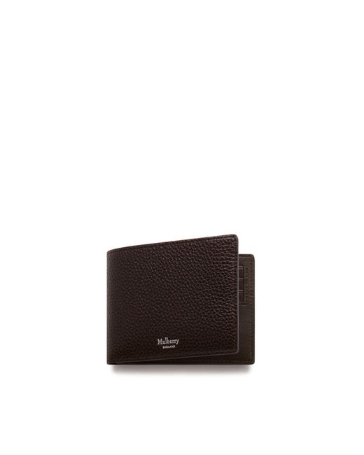 Mulberry - Multicolor 8 Card Coin Wallet In Chocolate Natural Grain Leather for Men - Lyst