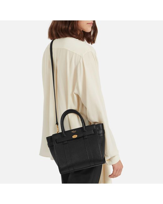 Lyst Mulberry Mini Zipped Bayswater In Black