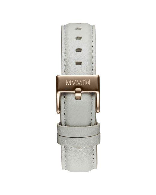 MVMT - Gray Boulevard - 18mm Grey Leather - Lyst
