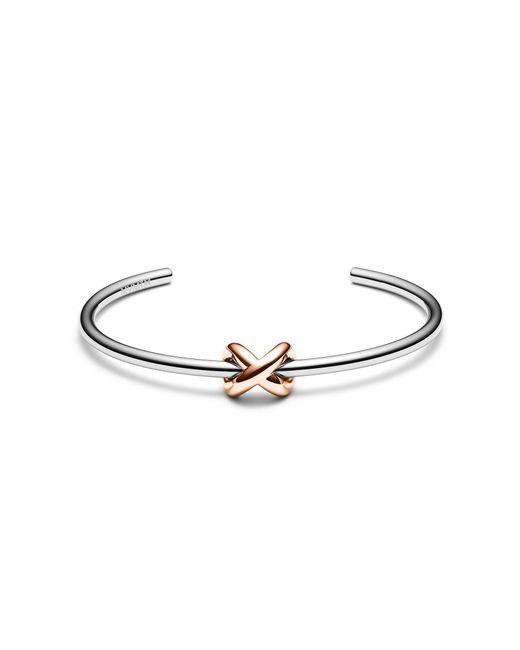 MVMT - Metallic Knot Cuff - Lyst