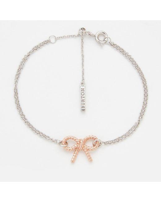 Olivia Burton - Multicolor Vintage Bow Chain Bracelet - Lyst