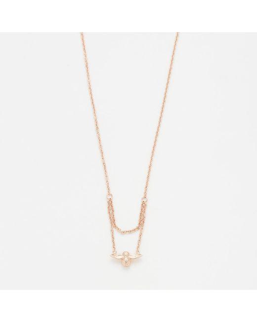 Olivia Burton | Multicolor Moulded Bee Drop Necklace | Lyst