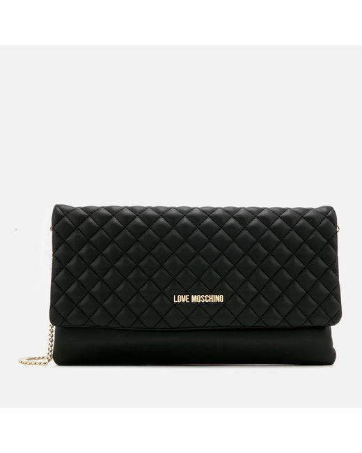 Love Moschino - Black Small Quilted Cross Body Bag - Lyst