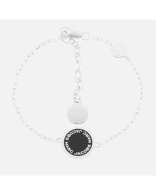 Marc Jacobs | White Enamel Logo Bracelet | Lyst