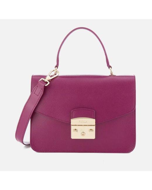 Furla | Purple Metropolis Small Top Handle Bag | Lyst