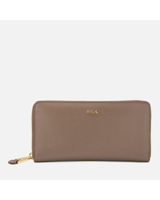 Lauren by Ralph Lauren | Brown Tate Zip Wallet | Lyst