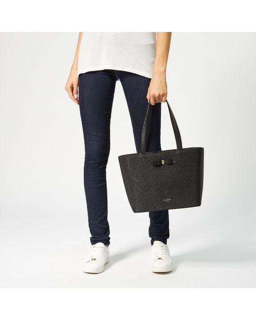9c7acafbd ... Ted Baker - Black Jjesica Bow Detail Shopper Bag - Lyst ...