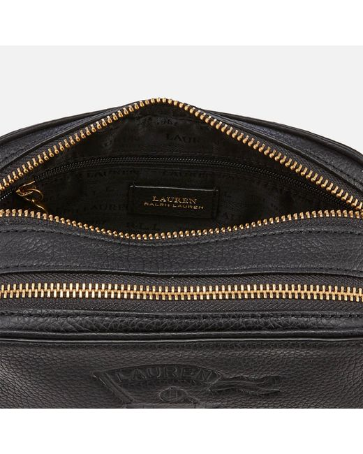Lyst - Lauren by Ralph Lauren Huntley Medium Camera Bag in Black ... 46936ced09a73